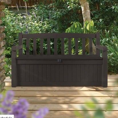 keter eden 70 gallon storage bench deck