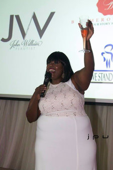 Charge Up Founder - Charessa Sawyer Pink Champagne Toast Photo credit: Johnny Prince Visions