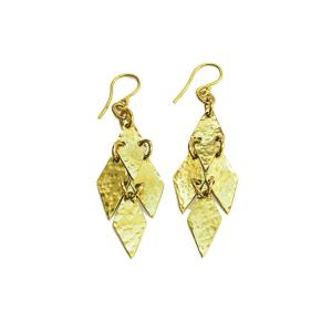 Fair trade earrings ethically handmade by artisans in East Africa.