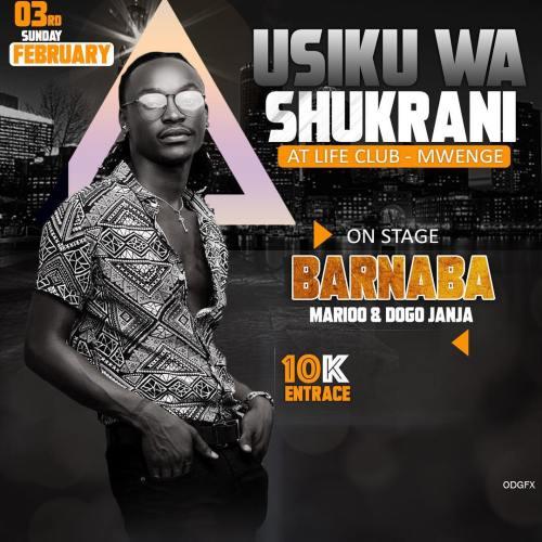 UsikuWashukrani Barnaba Usiku wa shukrani