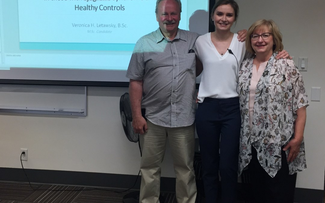Congratulations to Veronica Letawsky on her successful master's thesis defense: Si-Lab's first thesis student!
