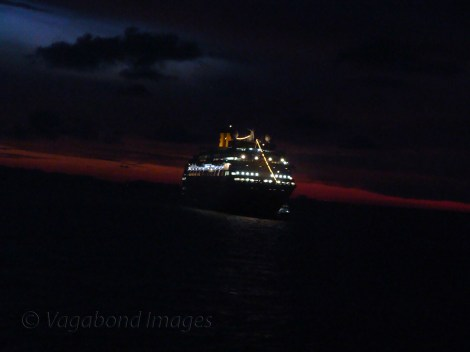 Another cruise ship closes by
