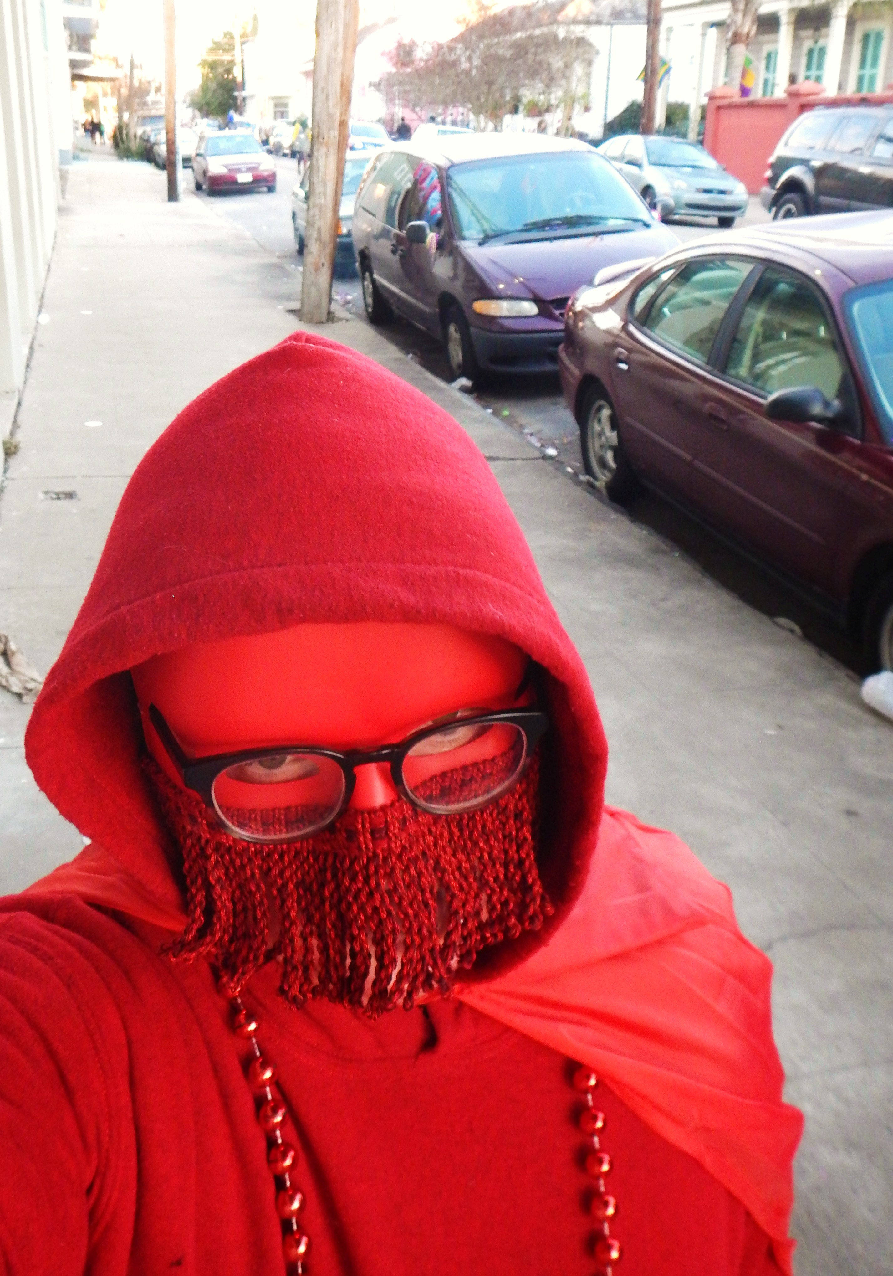 The Masque Of The Red On Mardi Gras Day