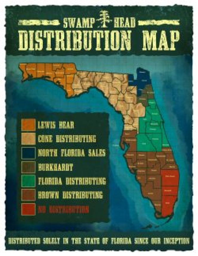 Swamp Head Distribution Map Web