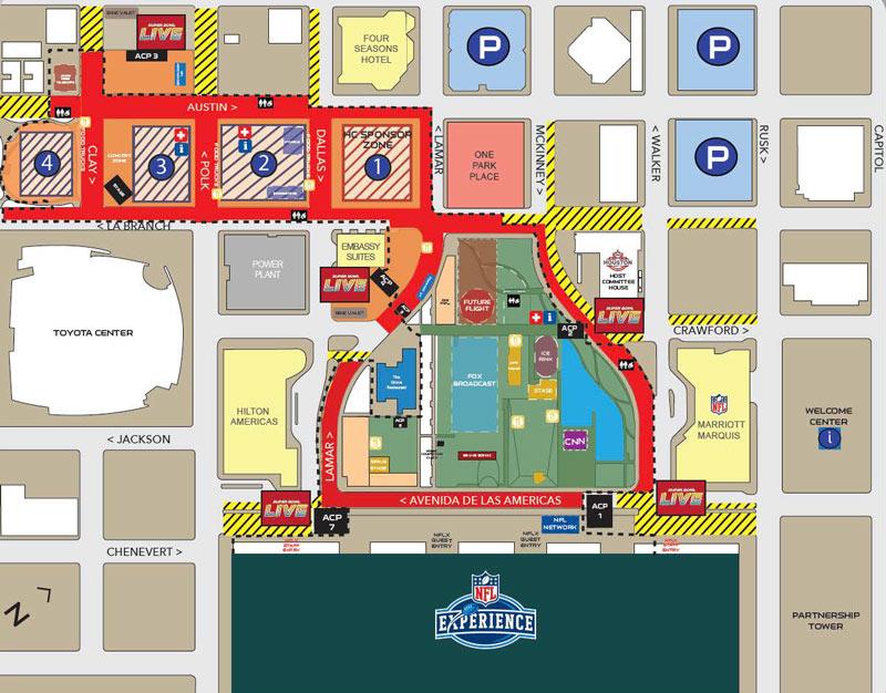 Reliant Stadium Parking Lot Map