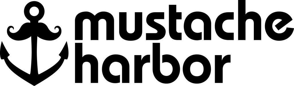 Mustache Harbor Logo 2017 Black PNG