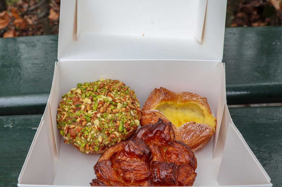 cardomom bun, mixed nut pastry, danish pastry from hart bakery