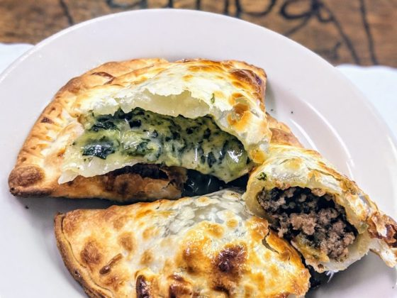 Beef and Cheese with Spinach Empandas