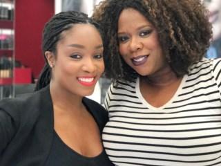 NARS Makeup Stylist, Yaneek Proctor and Felice Sloan