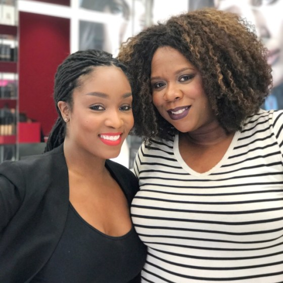 NARS Makeup Stylist, Yaneek Proctor and Felice Sloan