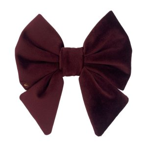 Cabernet dog sailor bow made from soft velvet. Super classy and cute dog sailor bow