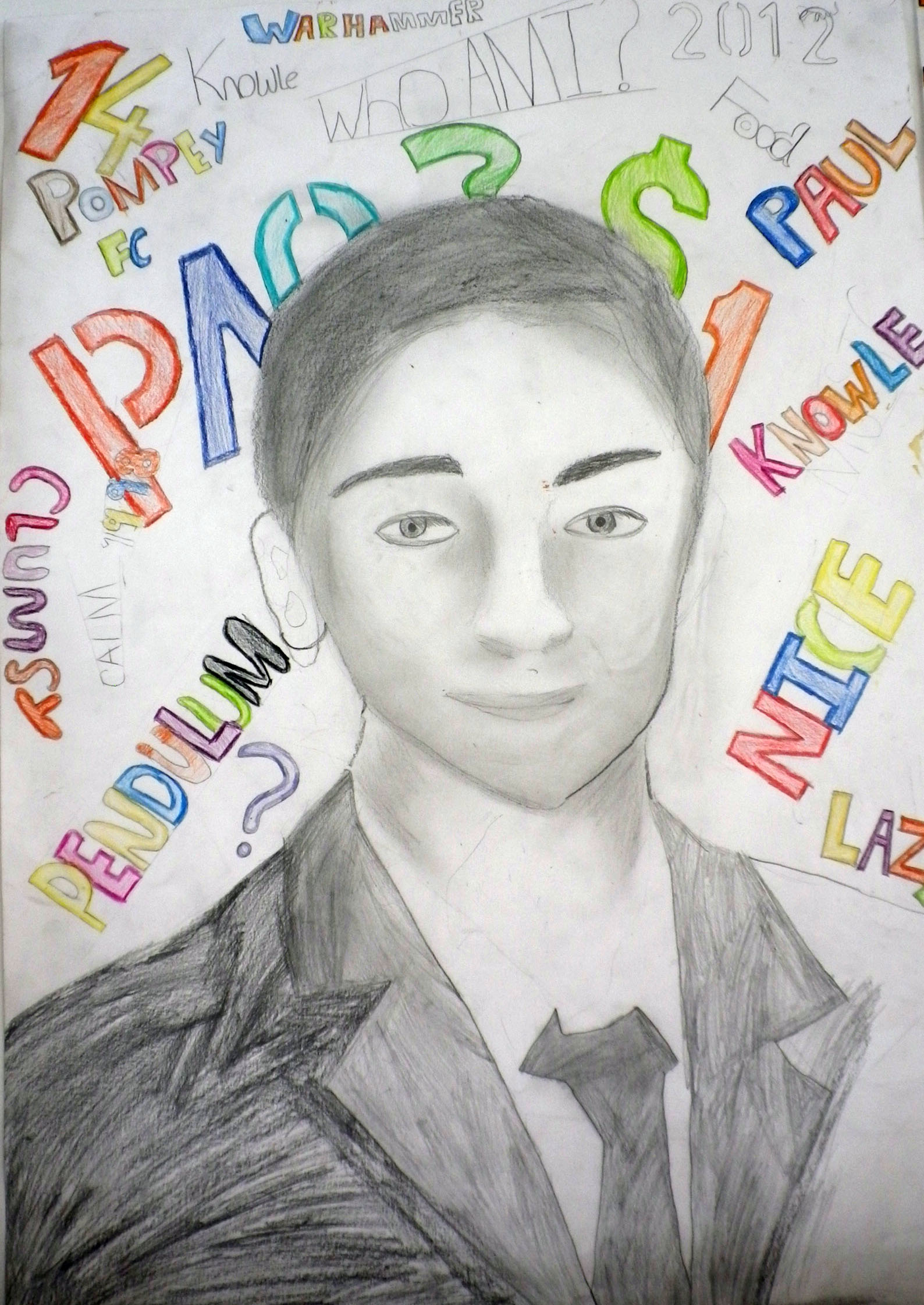 Year 9 Who Am I Self Portrait Project Gallery