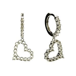 Heart Shape Dangling Fashion Earrings