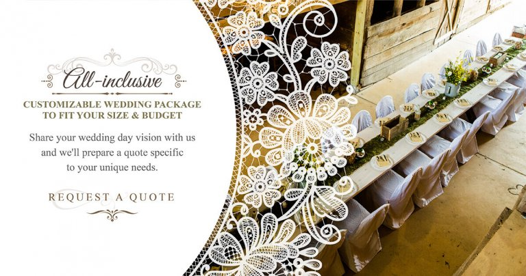 Customizable Wedding Packages at Swann Stables