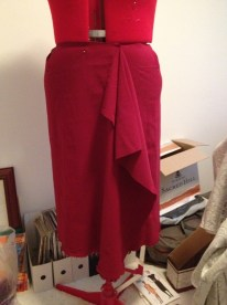 My first attempt at draping a skirt.
