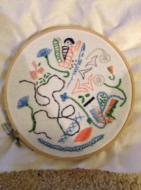 Freeform embroidery sampler