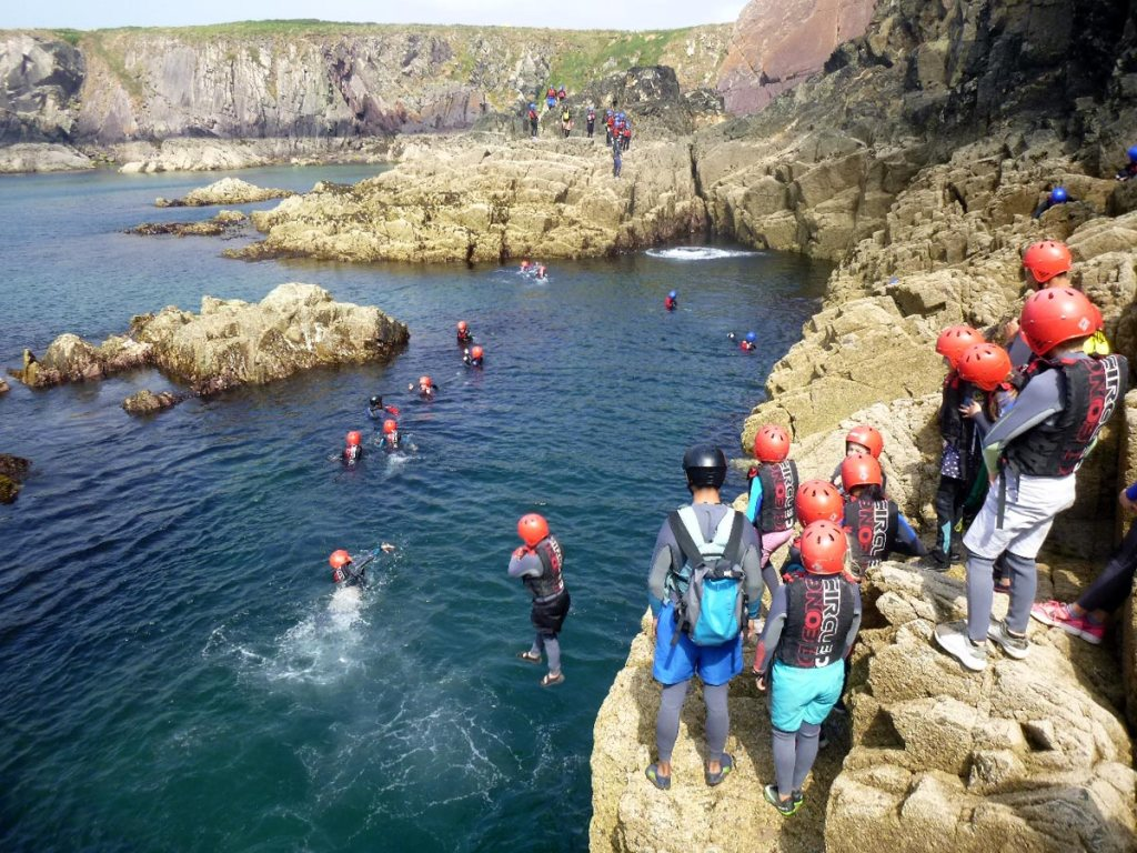 coasteering swansea