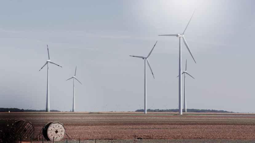 photo of white windmill scenery