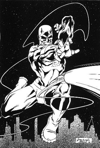 Daredevil, pencils by Michelangelo Almeida, inks by Bob Almond