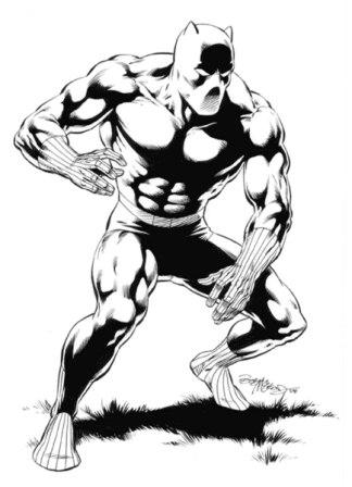 The Black Panther, pencils and inks by comics artist Bob McLeod