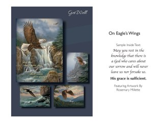 BOXED CARDS GET WELL ON EAGLES WINGS