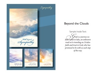 BOXED CARDS SYMPATHY BEYOND THE CLOUDS