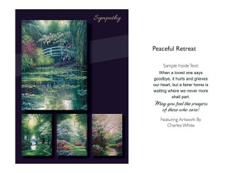 BOXED CARDS SYMPATHY PEACEFUL RETREAT