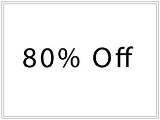 80% Off