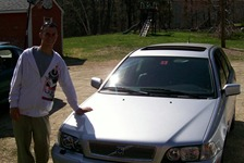 Gary Jr in fornt of his new Volvo