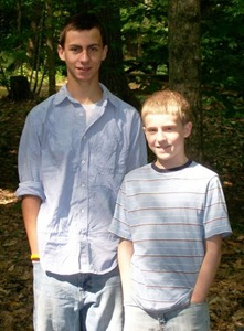 Gary Jr. and PJ at Townshend State Park July 2007