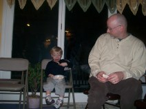 Kaeden and Dad (Chad) at Otter River 2008