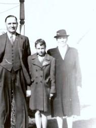 Grandma and Grandpa Mattson with Ruthie