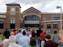 Long lines for EHS Graduation June 17th 2011