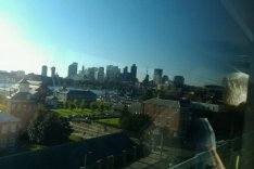 Boston skyline from the Tobin Bridge