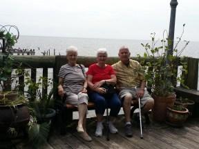 Christine, Arlene, Jim - FL sibling reunion 2013