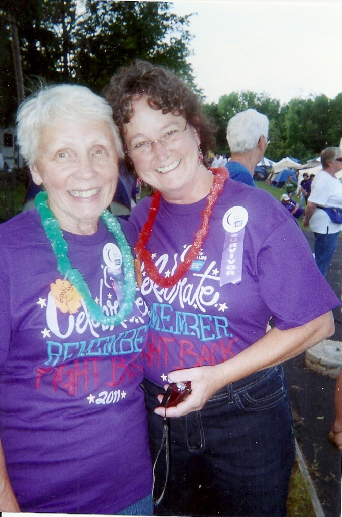 Ingrid and Marjorie Walk for 'Relay for Life'