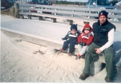 Greg with sons Cole and Mitchell 2006