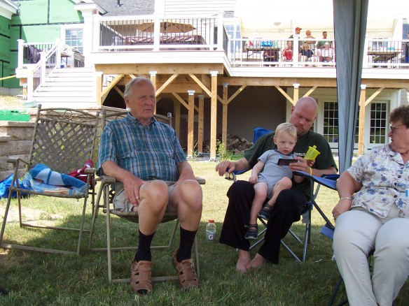 Cousin Phil, Logan and Dad, Sherry