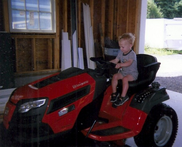 Logan and tractor