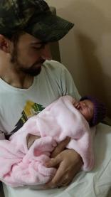 Sophia Rose Swanson with Uncle Gary