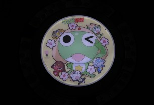 LED Anime-Themed Manhole Covers Take Over Tokorozawa City in Japan Sgt. Frog 2