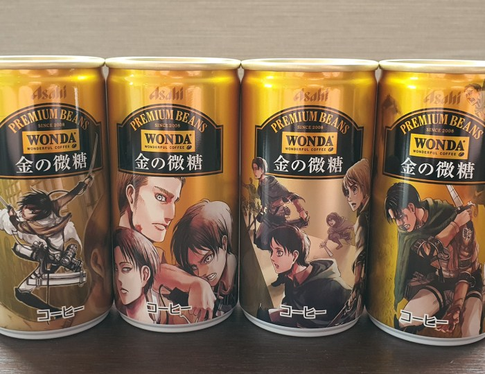 Limited-Edition Attack on Titan Coffee Can Designs