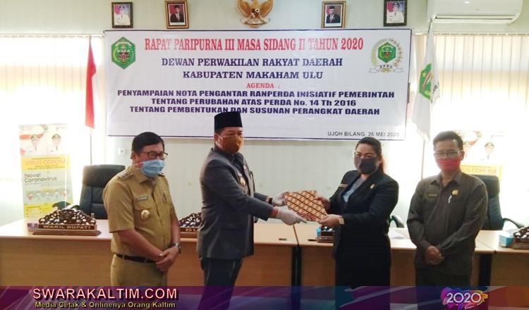 Bakal Ada 3 OPD Baru, DPRD dan Pemkab Mahulu Gelar Rapat Paripurna