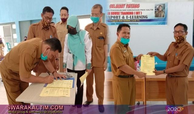 IHT E-Raport dan E-Learning Dibuka Kadisdik Kaltim, SMK 18 Siap Jadi Mercusuar