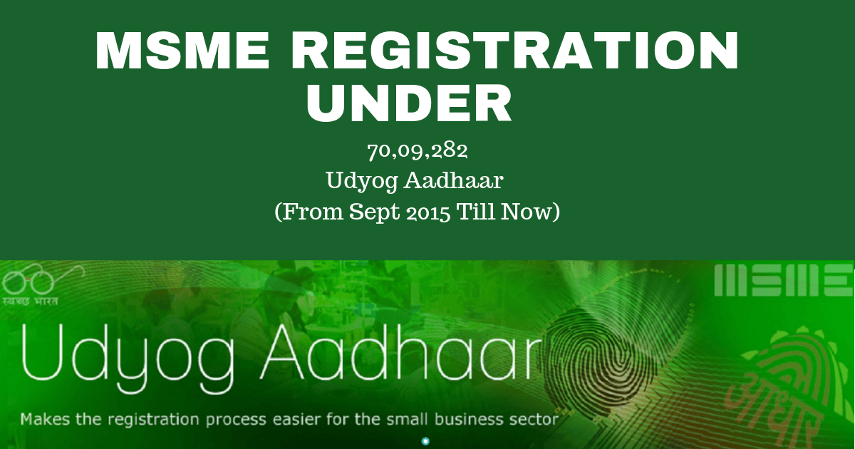 How to do MSME Registration Under Udyog Aadhaar?