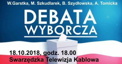 Debata – czwartek 18 października – godz. 18.00 – STK