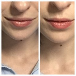 L: Covergirl Oh Sugar in Caramel, R: Fresh Rose Tinted Lip Treatment