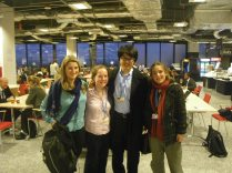 Meeting with Camilla Born (UK) and Mathilde Imer (France) to discuss divestment and international youth action