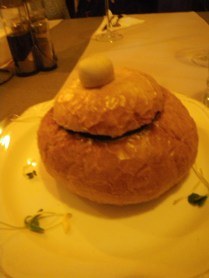 a bread bowl with a handle!
