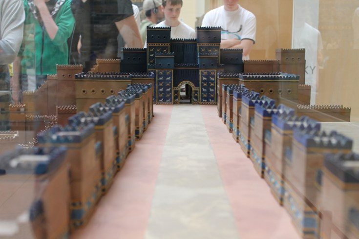 A model of the procession street in Babylon